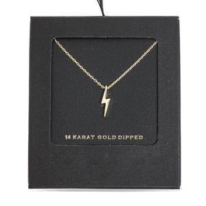 Secret Box Gold Dipped Lightening Bold Necklace
